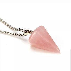 New Gorgeous Rose Quartz Healing necklace